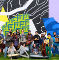 Grand groupe régional d'improvisation libérée (GGRIL) [Photo: Marie-Pierre Morin, 2019]