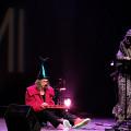 Vergil Sharkya' & Kathy Kennedy during the Le cabaret qui ruisselle concert, as part of the Montréal / Nouvelles Musiques 2021 festival. [Photograph: Céline Côté, Montréal (Québec), February 24, 2021]