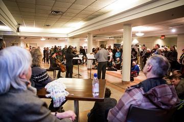 Also pictured: Bozzini Quartet [Photo: Vincent Marchessault, Montréal (Québec), January 21, 2018]