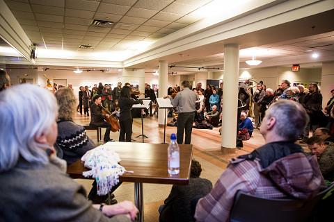 Quatuor Bozzini [Photo: Vincent Marchessault, Montréal (Québec), 21 janvier 2018]