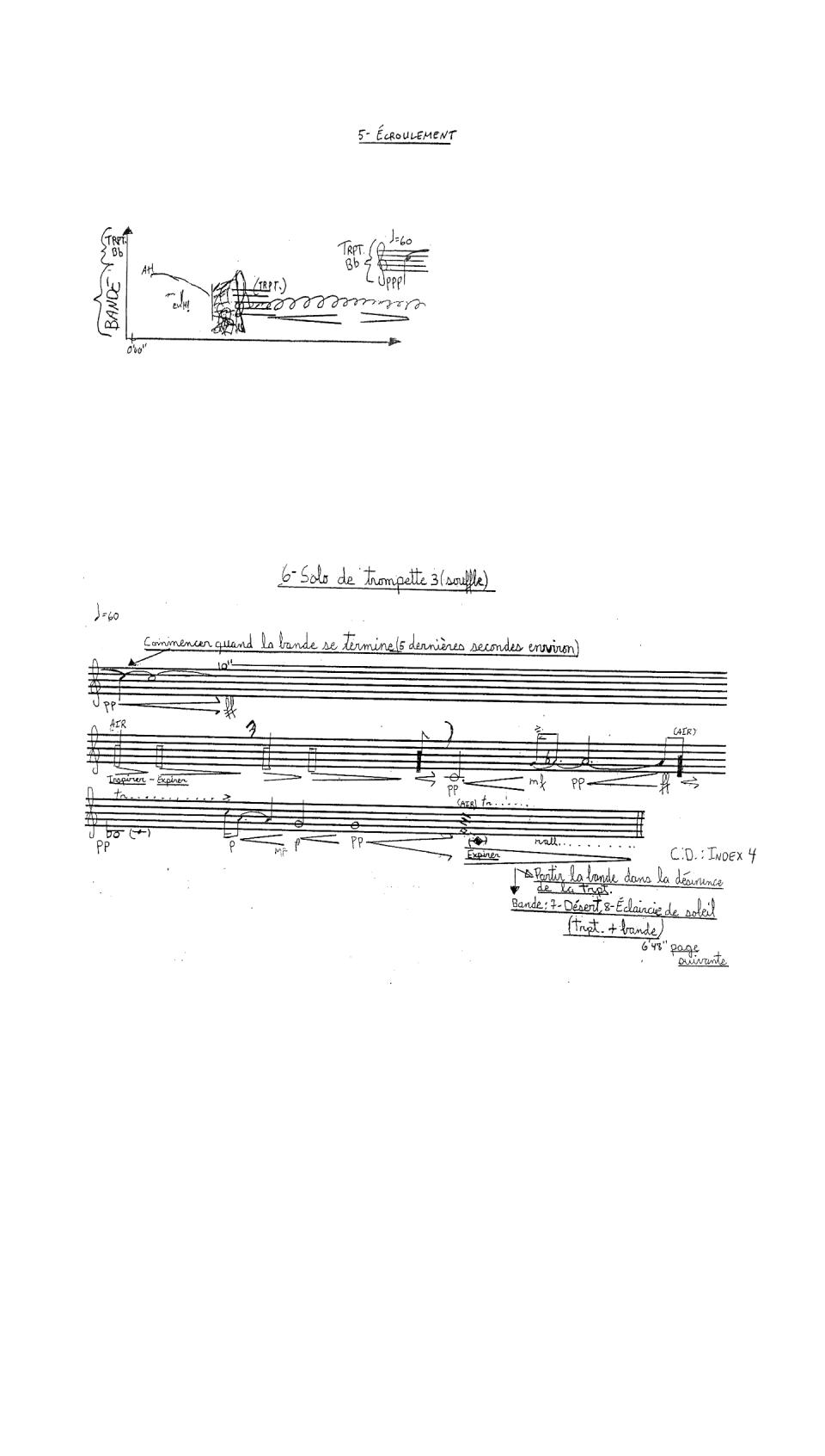 Écroulement; Solo de trompette 3