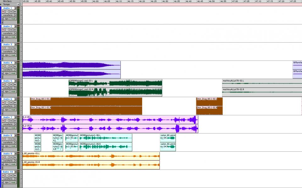 45m30s • 3.2: Noise Study — 44m13s-46m57s • 3.3: Extended Vocal — 46m57s-60m00s