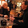 Francis Dhomont et Jean-François Denis avant le concert de Francis Dhomont lors d'Akousma (3), au Monument-National [Photo: Luc Beauchemin, Montréal (Québec), 2 novembre 2006]