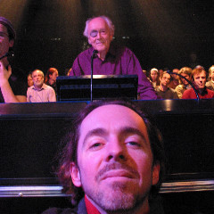 Luc Beauchemin, in the audience of the Francis Dhomont concert during Akousma (3), at the Monument-National [Photo: Luc Beauchemin, Montréal (Québec), November 2, 2006]
