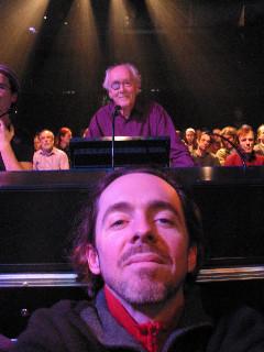 Luc Beauchemin, spectateur du concert de Francis Dhomont lors d'Akousma (3), au Monument-National [Photo: Luc Beauchemin, Montréal (Québec), 2 novembre 2006]