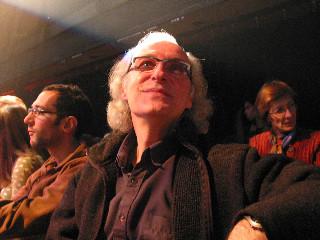 Yves Beaupré, attending the Francis Dhomont concert during Akousma (3), at the Monument-National [Photo: Luc Beauchemin, Montréal (Québec), November 2, 2006]