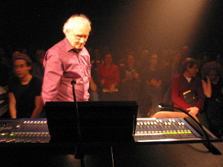 Francis Dhomont concert during Akousma (3), at the Monument-National [Photo: Luc Beauchemin, Montréal (Québec), November 2, 2006]