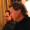 Jean-François Denis avant le concert de Francis Dhomont lors d'Akousma (3), au Monument-National [Photo: Luc Beauchemin, Montréal (Québec), 2 novembre 2006]