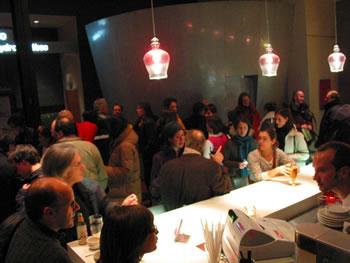 Pendant l'entracte, Café du Monument-National [Photo: Luc Beauchemin, Montréal (Québec), December 11, 2008]