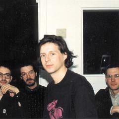 Claude Schryer, Daniel Scheidt, Jean-François Denis, Robert Normandeau lors de la tournée «Traces électro — Canada 91», Obscure [Québec (Québec), 9 mars 1991]