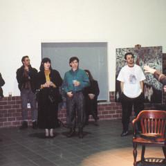Christian Calon, Claude Schryer, Jean-François Denis, launching Christian Calon's disc Lignes de vie, first release for empreintes DIGITALes, Maison de la culture Frontenac [Montréal (Québec), January 31, 1990]