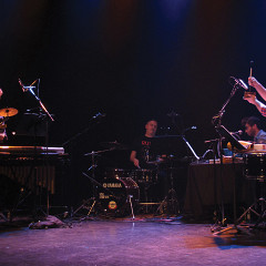 Architek Percussion in concert at DAME: Archive / mémoire [Photograph: Céline Côté, Montréal (Québec), February 16, 2017]
