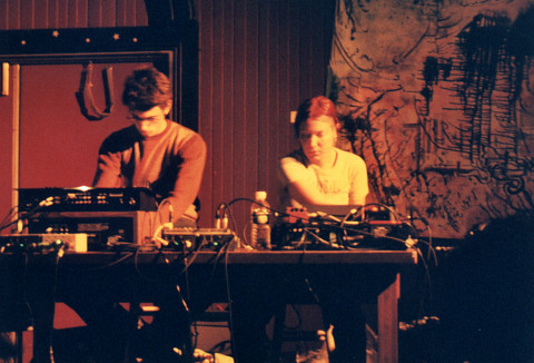 Guillaume Théroux-Rancourt and Magali Babin at one of the POSTrien concerts, held at Casa del Popolo [Photo: James Schidlowsky, Montréal (Québec), September 12, 2002]