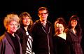Musicians of the March 8, 2012 concert Les filles à l'envers. Left to right: Lori Freedman; Myléna Bergeron; Alexander MacSween; Joane Hétu; Magali Babin [Photograph: Élisabeth Alice Coutu, Montréal (Québec), March 8, 2012]