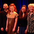 Musicians of the March 13, 2012 concert Les filles à l'envers. Left to right: Magali Babin; Nicolas Dion; Andrea-Jane Cornell; Émilie Girard-Charest; Danielle Palardy Roger [Photograph: Élisabeth Alice Coutu, Montréal (Québec), March 13, 2012]