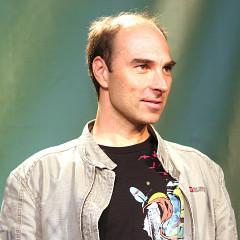 Martin Bédard à la remise des prix au Ars Electronica [Photo: rubra, Linz (Autriche), 6 septembre 2010]