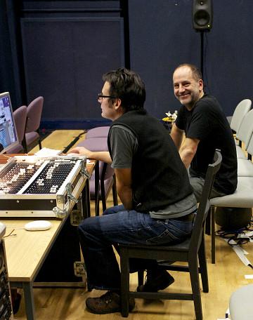 David Berezan et John Young rehearsing [Photo: Simon Smith, Manchester (England, UK), October 27, 2012]
