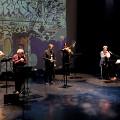 Bozzini Quartet, Quasar, Nous perçons les oreilles that play Catherdrale Graffiti' piece [Photograph: Céline Côté, Montréal (Québec), October 5, 2018]