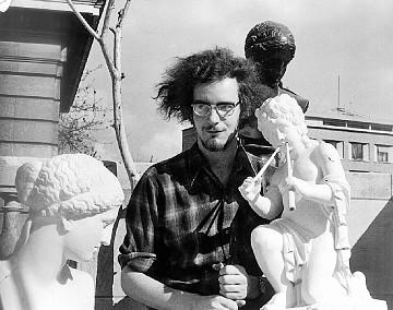Michel Chion at the Service de la Recherche [Photo: Robert Cahen, Paris (France), 1972]