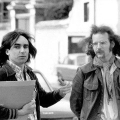Denis Smalley and Michel Chion, 6th Festival international de musique électroacoustique de Bourges [Photo: Robert Cahen, Bourges (Cher, France), 1976]