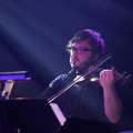 Guido Del Fabbro en concert avec l'Ensemble SuperMusique (ESM) au Festival de musique actuelle de Victoriaville [Photo: Martin Morissette, Victoriaville (Québec), 19 mai 2012]