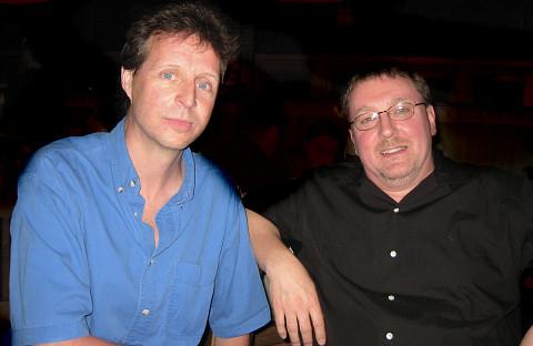 Jean-François Denis and Jonty Harrison at the 15th Florida Electronic Music Festival [Photo: Elainie Lillios, Gainesville (Florida, USA), April 8, 2006]
