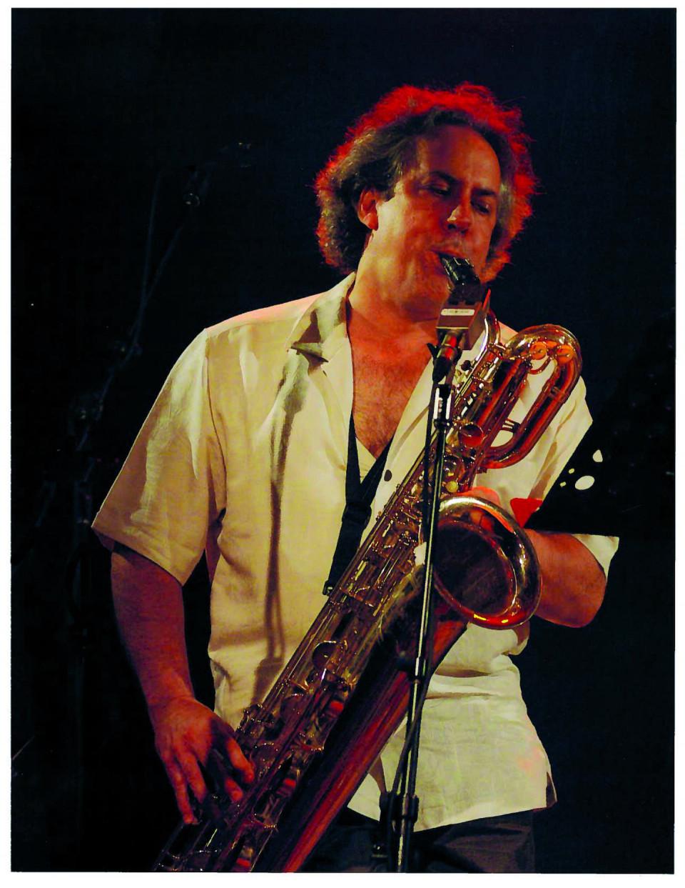 Jean Derome in concert [Photograph: Marcel Dubois, Montréal (Québec), 2010]