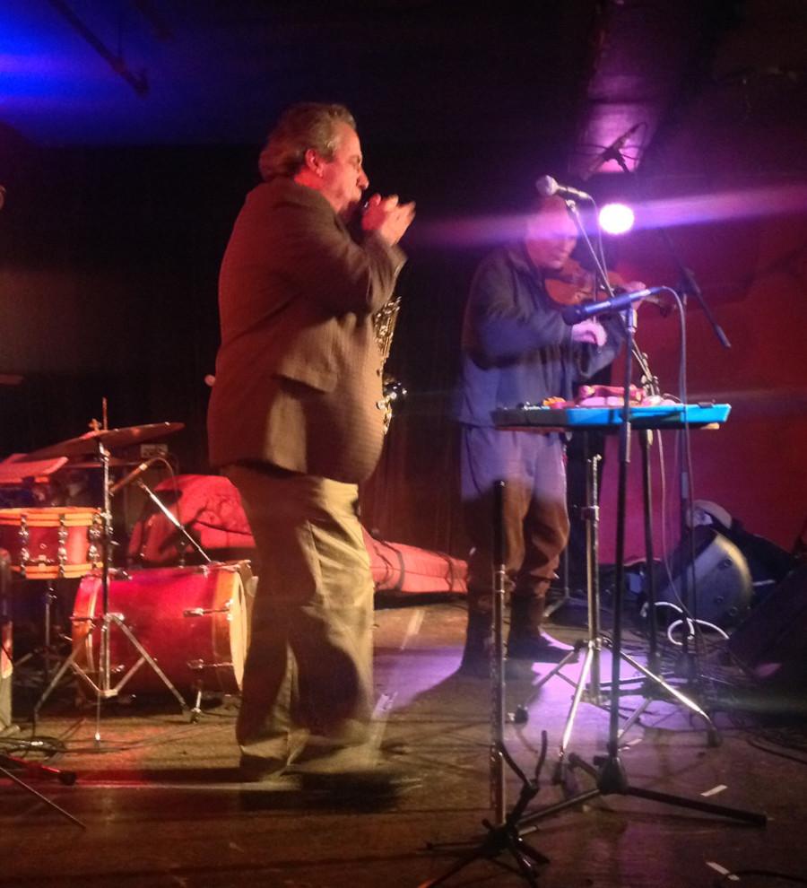 Jean Derome et Malcolm Goldstein in concert at the launching of 6 improvisations [Montréal (Québec), December 11, 2013]