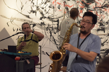 Jean Derome, Yong Yandsen, Tey Beng Tze [Photo: Bannai Roo, Kuala Lumpur (Malaysia), December 2, 2016]