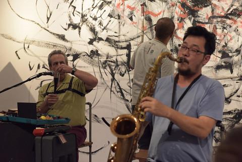 Jean Derome, Yong Yandsen, Tey Beng Tze [Photograph: Bannai Roo, Kuala Lumpur (Malaysia), December 2, 2016]