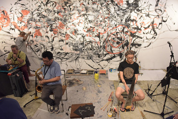 Jean Derome, Yong Yandsen, Tey Beng Tze, Liu Fangyi [Photo: Bannai Roo, Kuala Lumpur (Malaysia), December 2, 2016]
