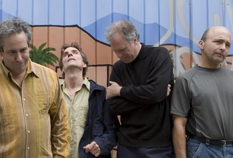 Jean Derome et les Dangereux Zhoms, de gauche à droite: Jean Derome, Guillaume Dostaler, Pierre Tanguay,Pierre Cartier [Photo: Richard-Max Tremblay, septembre 2007]