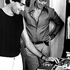 Philippe Mion, Francis Dhomont, Université de la radiophonie [Photo: Érik Bullet, Arles (Bouches-du-Rhône, France), 1986]