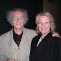 Francis Dhomont, Synthia Payne après le 2e concert «Dhomontmos» au Recombinant Labs Compound [Photo: Jean-François Denis, San Francisco (Californie, ÉU), 26 juin 2004]