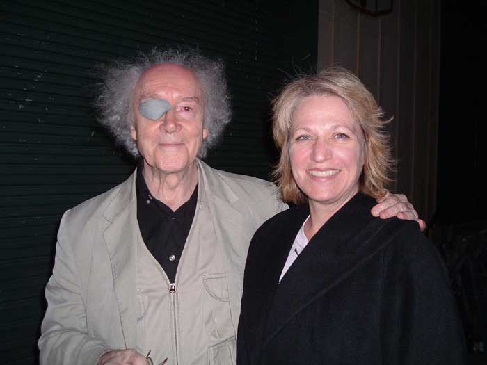 """Francis Dhomont, Synthia Payne after the 2nd """"Dhomontmos"""" concert at Recombinant Labs Compound [Photo: Jean-François Denis, San Francisco (California, USA), June 26, 2004]"""
