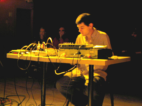 A_dontigny live, La Sala Rossa [Photo: James Schidlowsky, Montréal (Québec), September 1, 2004]