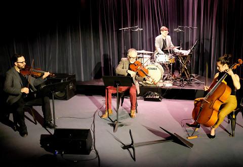 Guido Del Fabbro, Jean René, Preston Beebe, Émilie Girard-Charest [Photo: Céline Côté, Montréal (Québec), 7 décembre 2020]