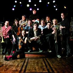 L'Ensemble Pierre Labbé at the Tremblement de fer launch [Photograph: Patrick Larocque, Montréal (Québec), October 23, 2010]