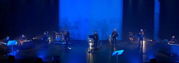 Ensemble SuperMusique (ESM) / Aussi sur la photo: Bernard Falaise, Ida Toninato, Joane Hétu, Jean Derome, Jean René, Martin Tétreault [Photo: Céline Côté, Montréal (Québec), 3 octobre 2021]