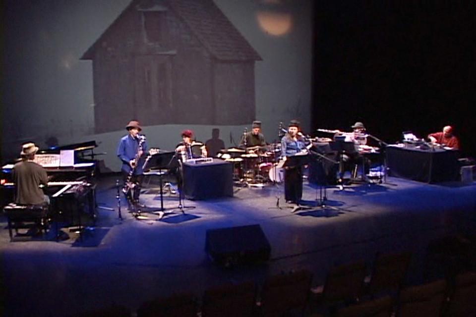 """Ensemble SuperMusique (ESM) during the concert of """"Nouvelle musique d'hiver"""" by Joane Hétu at the Musée d'art contemporain de Montréal [Photograph: Luc Beauchemin, Montréal (Québec), March 6, 2003]"""