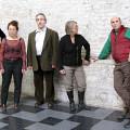 Ensemble SuperMusique (ESM) (left to right: Pierre Tanguay; Joane Hétu; Jean Derome; Diane Labrosse; Martin Tétreault; Danielle Palardy Roger) [Photograph: Céline Côté, February 14, 2013]