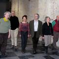 Ensemble SuperMusique (ESM) (left to right: Danielle Palardy Roger; Pierre Tanguay; Joane Hétu; Jean Derome; Diane Labrosse; Martin Tétreault) [Photograph: Céline Côté, February 14, 2013]