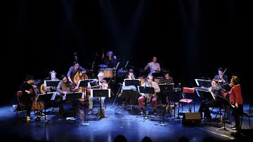 Ensemble SuperMusique (ESM) plays the piece En arrivant par le nuage de Oort [Photo: Céline Côté, Montréal (Québec), April 6, 2017]