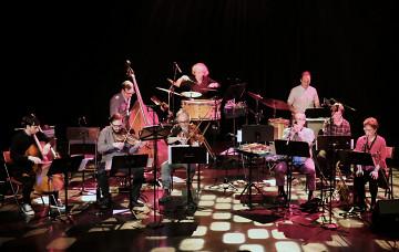 Ensemble SuperMusique (ESM) plays the piece Préoccupant, c'est préoccupant [Photo: Céline Côté, Montréal (Québec), April 6, 2017]