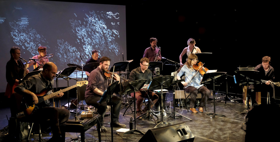 From left to right, in the back: Joane Hétu; Cléo Palacio-Quintin; Isaiah Ceccarelli; Philippe Lauzier; Ida Toninato. From left to right, in front: Pierre-Yves Martel; Guido Del Fabbro; Maxime Corbeil-Perron; Jennifer Thiessen; Bernard Falaise [Photograph: Céline Côté, Montréal (Québec), May 26, 2018]