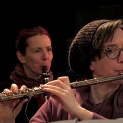 Ensemble SuperMusique (ESM), Cléo Palacio-Quintin, Isabelle Duthoit [Photo: Céline Côté, Montréal (Québec), 29 avril 2018]