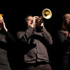 Cléo Palacio-Quintin, Craig Pedersen, Elizabeth Millar [Photograph: Céline Côté, Montréal (Québec), November 22, 2018]