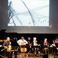 Interprétation de la partition pendant l'atelier [Photo: Céline Côté, Montréal (Québec), 3 novembre 2019]