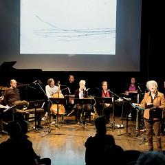 Explication de Danielle Palardy Roger pendant l'atelier [Photo: Céline Côté, Montréal (Québec), 3 novembre 2019]