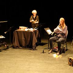 The Ensemble SuperMusique (ESM) participates in the public workshop given by Christopher Williams [Photograph: Céline Côté, Montréal (Québec), November 25, 2018]